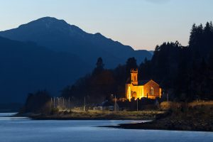 Kilmun Church Blue Hour