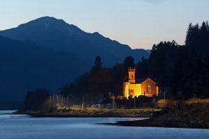Kilmun Church Blue Hour